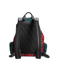 Burberry - Red Large Patchwork Tartan Rucksack - Lyst