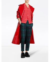 Burberry - Red Polka Dot Short Sleeved Shirt - Lyst