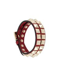 Valentino - Red Garavani Rockstud Wrap Bracelet - Lyst