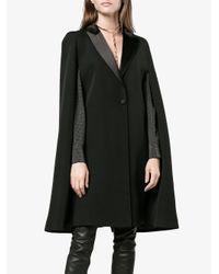 Givenchy - Black Cape Detail Blazer - Lyst