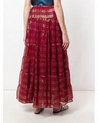 Mes Demoiselles - Red Metallic Detailed Maxi Skirt - Lyst