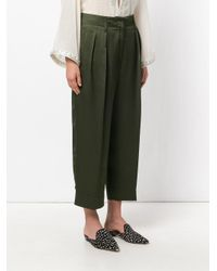 Forte Forte - Green Front Pleat Trousers - Lyst
