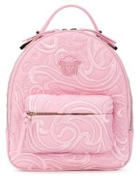 Versace - Pink Palazzo Chain Backpack - Lyst