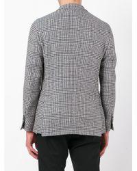 Lardini - Gray Houndstooth Pattern Blazer for Men - Lyst