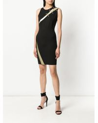 Just Cavalli - Black Embellished Slash-detail Dress - Lyst