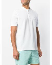 Polo Ralph Lauren - White Henley T-shirt for Men - Lyst