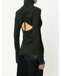 Christopher Esber - Black Open Back Blouse - Lyst