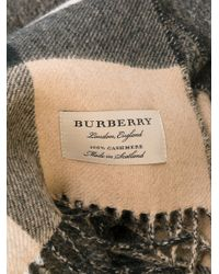 Burberry - Multicolor Cashmere Oversize Check Scarf for Men - Lyst