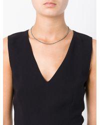 Uzerai Edits - Blue String Diamond Necklace - Lyst