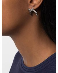 Eshvi - Gray Venus Earrings - Lyst