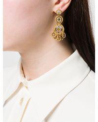 Gas Bijoux - Metallic Sequin Double Earrings - Lyst
