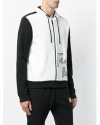 Fendi - White Contrast Hooded Jacket for Men - Lyst