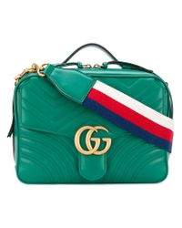 Gucci Green Gg Marmont Matelassé Shoulder Bag