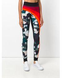 No Ka 'oi - Multicolor Striped Mosaic Camouflage Leggings - Lyst