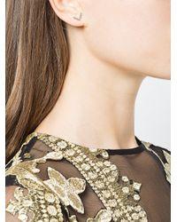 Yvonne Léon - Metallic V Bar Stud Earrings - Lyst