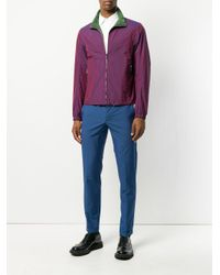 Prada - Blue Slim Tailored Trousers for Men - Lyst