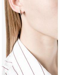 Lizzie Mandler - Metallic 18kt Gold 'huggies' Black Diamond Earrings - Lyst