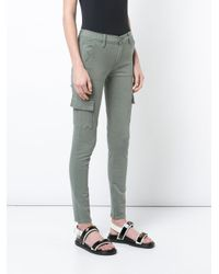 FRAME - Green Skinny Cargo Jeans - Lyst