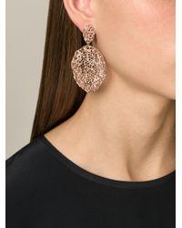 Aurelie Bidermann - Metallic 'vintage Lace' Earrings - Lyst