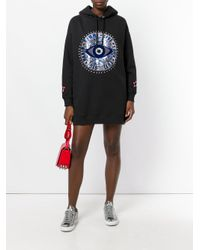 Tommy Hilfiger | Black Printed Hoodie Dress | Lyst