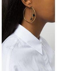 Aurelie Bidermann - Metallic Barbizon Hoop Earrings - Lyst