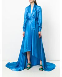Francesco Paolo Salerno - Blue Belted Hi-low Gown - Lyst