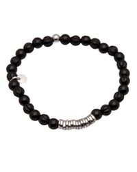 Tateossian - Black Disc Bracelet for Men - Lyst