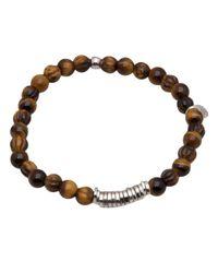Tateossian - Brown Tigereye Disc Bracelet for Men - Lyst