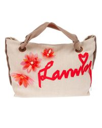 Lanvin - Orange Appliqué Logo Tote - Lyst