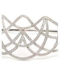 Gaydamak | Metallic White Gold And Diamond Ardeko Hand Bracelet | Lyst