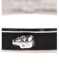 Alexander McQueen | Black Skull Bangle | Lyst