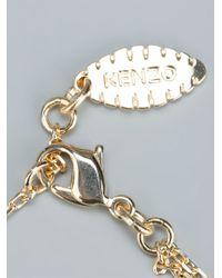 KENZO - Metallic 'tiger' Bracelet - Lyst