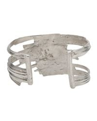 1-100 - Metallic Cut Out Cuff - Lyst