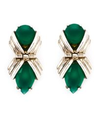 Shaun Leane | Metallic 'bound' Green Onyx Earrings | Lyst