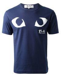 Play Comme des Garçons | Blue Comme Des Garçons Play Eye Print T-shirt for Men | Lyst