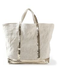 Vanessa Bruno   Natural - Sequin Embellished Tote - Women - Linen/flax - One Size   Lyst