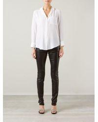Equipment - White Button Down Shirt - Lyst