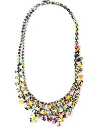 Tom Binns | Metallic Faux Real Goldplated Swarovski Crystal Necklace | Lyst