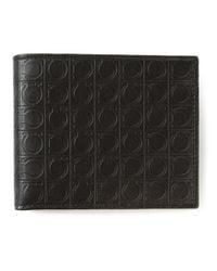 Ferragamo - Black 'gamma' Billfold Wallet for Men - Lyst