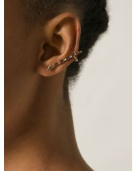 Elise Dray - Metallic 18kt Rose Gold 'ganji' Ear Cuff - Lyst