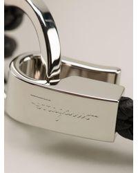 Ferragamo - Black Woven Bracelet for Men - Lyst