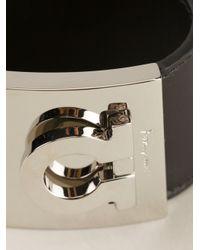 Ferragamo | Black Gancio Logo Bracelet | Lyst
