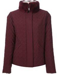 Fendi - Red Reversible Padded Jacket - Lyst