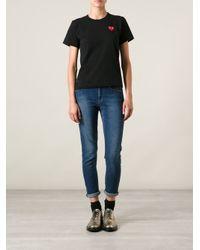 Play Comme des Garçons - Black 'red Play' T-shirt - Lyst