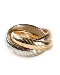 Janis Savitt | Metallic Triple 'cobra' Bracelet | Lyst