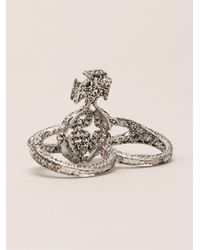 Vivienne Westwood Anglomania - Metallic 'radha' Ring - Lyst