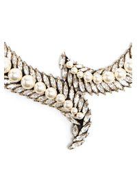 Shourouk - Metallic 'piuma' Necklace - Lyst