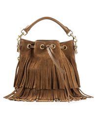 Saint Laurent | Brown Small 'emmanuelle' Bucket Bag | Lyst