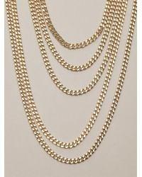 Chloé   Metallic Delfine Multi-strand Necklace   Lyst