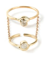Pamela Love - Metallic 'gravitation' Chain Ring - Lyst